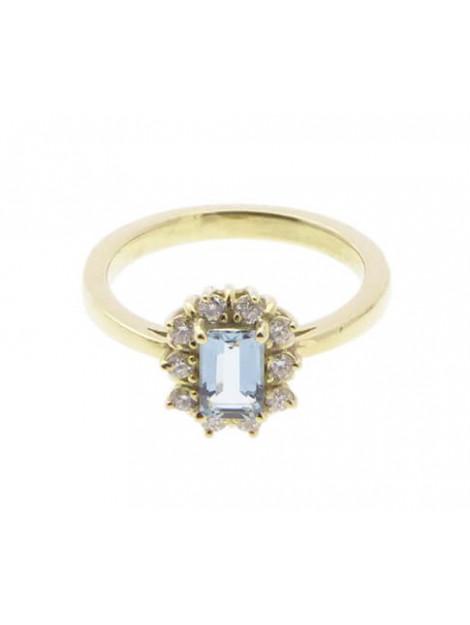Christian Gouden ring met aquamarijn en diamant geel goud 230T83-3298JC large