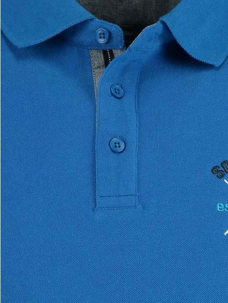 Bos Bright Blue Blue mika polo pique artwork 19108mi34sb/247 cobalt blauw 153604 large