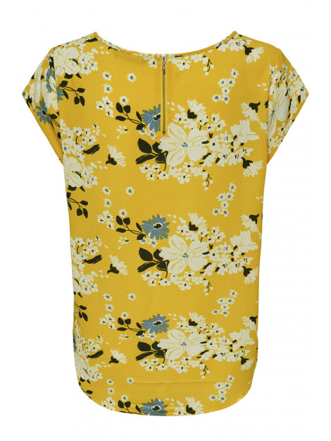 Only Onlvic ss aop top noos wvn 15161116 vibrant yellow/ mie flower geel 5713773492099 large
