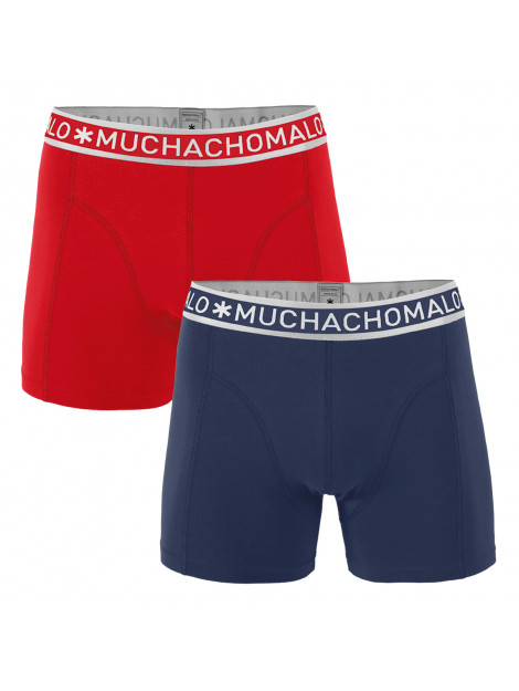 Muchachomalo Boys 2-pack short solid/solid blauw 1010JSOLID251 large
