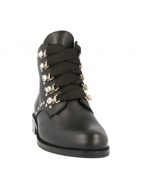 toral zwarte biker boots diamanten