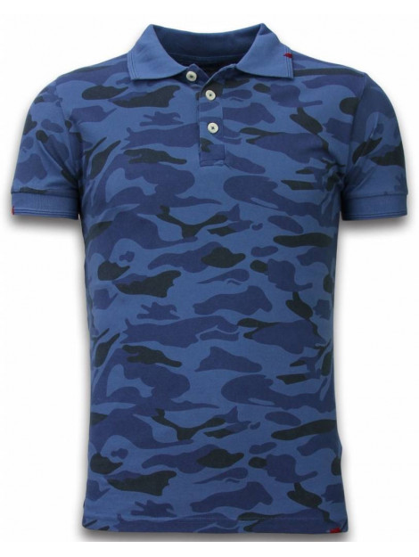 Bread & Buttons Camo polo shirt washed camouflage F3037B large