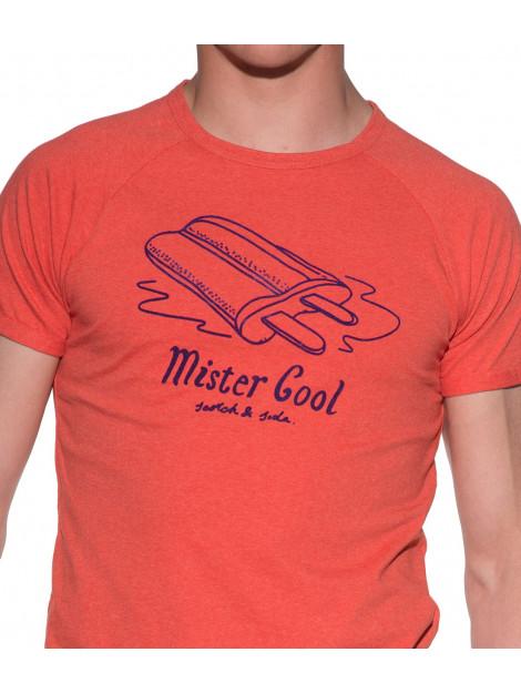 Scotch & Soda T-shirt met korte mouwen oranje 136477 large