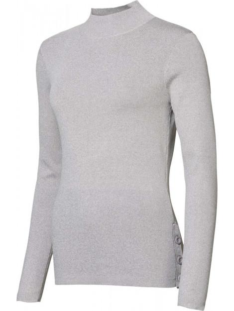 Geisha Pullover met kol grijs 94521-10-000900 large