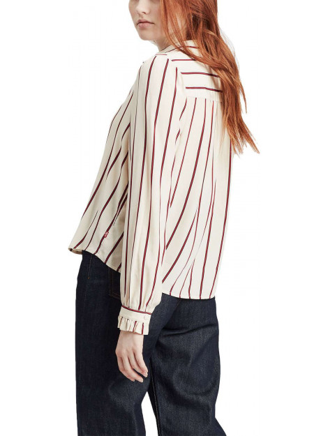 Levi's Marcey top split rock stripe ecru 77673-0002 large