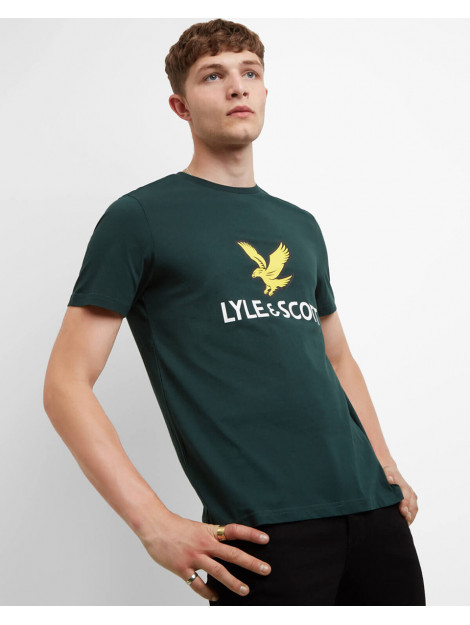 Lyle and Scott T-shirt ts1020v groen Lyle & Scott T-shirt TS1020V large