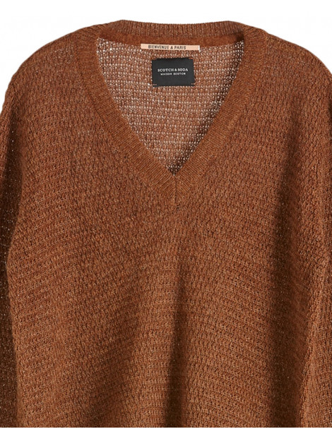 Maison Scotch Pullover 153163 bruin Maison Scotch Pullover 153163 large