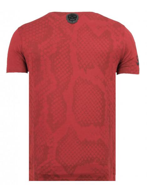 Local Fanatic Skull snake fun t-shirt 11-6326B large