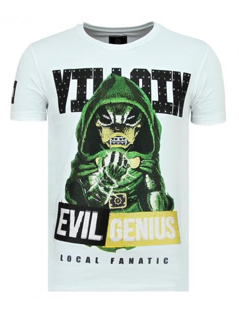 Local Fanatic Villain duck strakke t-shirt 11-6325W large