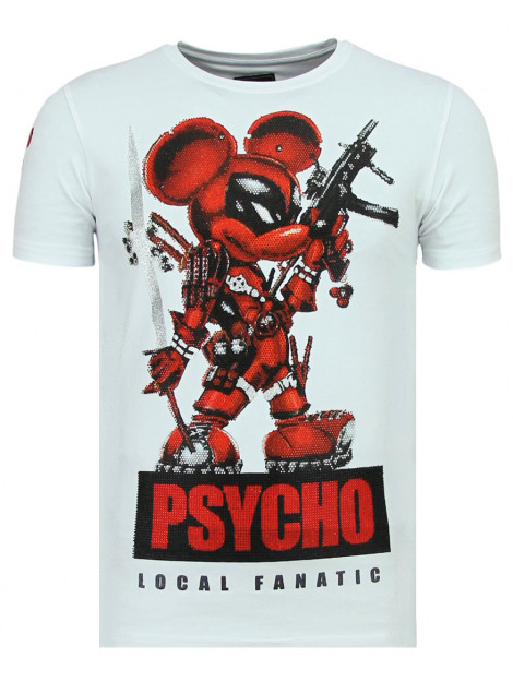 Local Fanatic Psycho mouse leuke t-shirt 11-6321W large