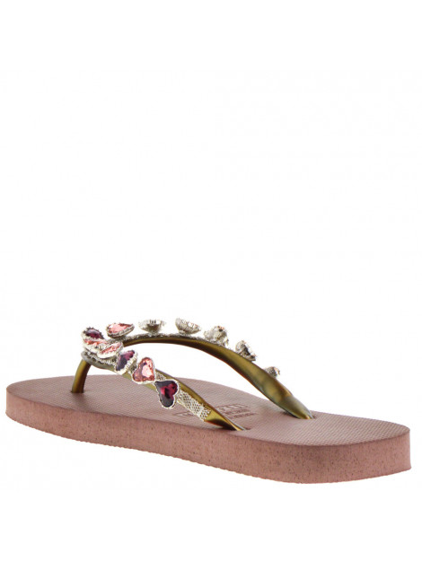 Uzurii Dames slippers taupe beige  large