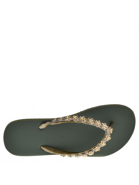 Uzurii Dames slippers -goud groen  large