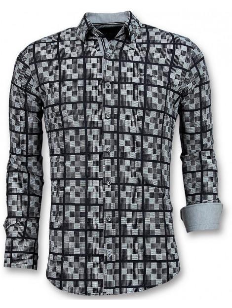 Tony Backer E overhemden schess motief 3020 large