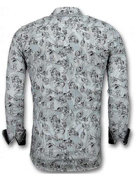 Tony Backer Casual overhemden flower motief 3018 large