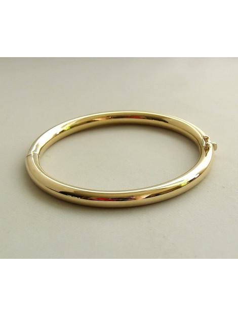 Christian Geel gouden slavenarmband rond model wit goud 923213-94386JC large