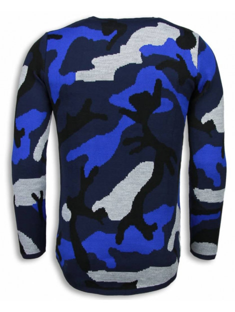 Justing Dazzle paint trui camouflage long fit sweater T056B large