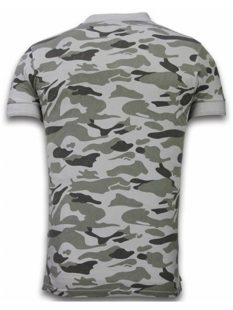 Bread & Buttons Camo polo shirt washed camouflage F3037G large