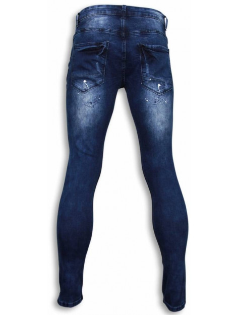 True Rise Jeans slim fit paint drops jeans ZS810 large