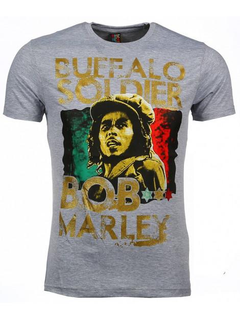 Local Fanatic T-shirt bob marley buffalo soldier print 51010G large