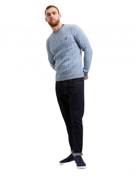 Lyle and Scott Knitwear cable jumper blauw 7401.71.0065 large