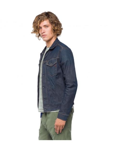 Replay Hyperflex denim jacket blauw 7650.72.0008 large