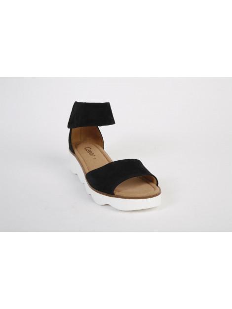 Gabor Gabor artikelnummer 21.610-17 sandaal enkelbandje zwart 21.610-17 large