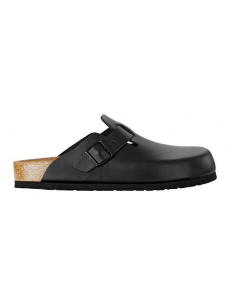 Birkenstock Boston black leather soft footbed narrow 060413 large