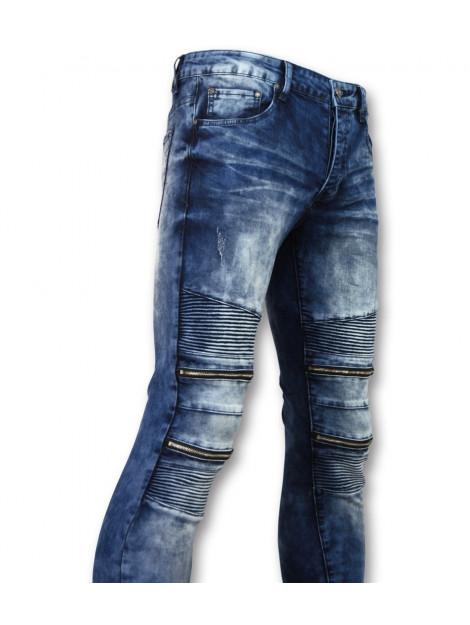 True Rise Biker skinny jeans manen stretch 3001-16 large