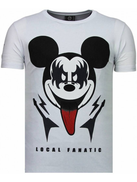 Local Fanatic Kiss my mickey rhinestone t-shirt 5771W large