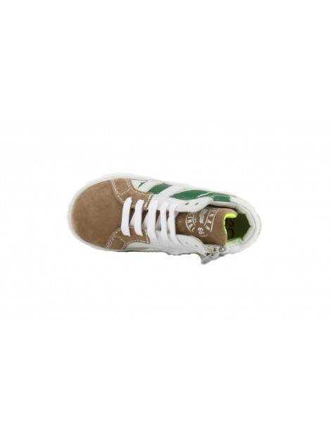 Shoesme Ur6038-h wit/groene striping Shoesme-UR6038-H wit-gr-taupe-taupe large