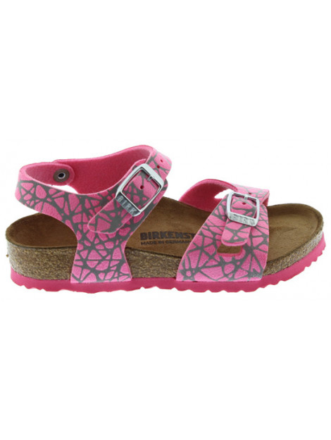 Birkenstock Rio reflective lines pink narrow roze 1012631 large