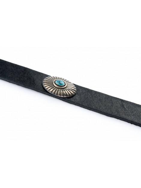 Legend Smalle hippe damesriem met zilveren schelpjes zwart 15073/999 ZW large