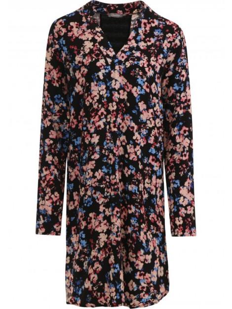 Geisha 97830-20 735 jurk all over print flowers en stripe at back camel combi 97830-20 735 large