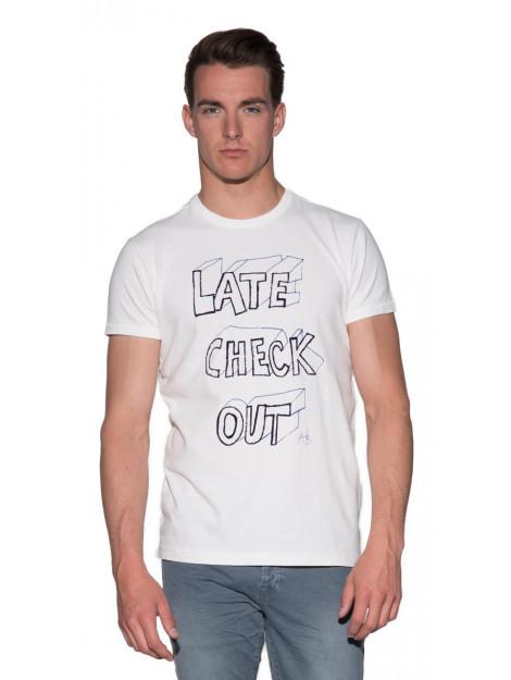 Scotch & Soda T-shirt met korte mouwen wit 137758 large