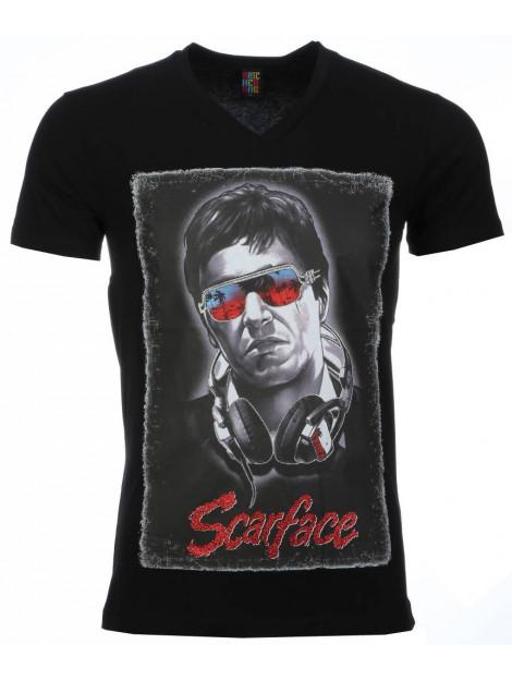 Local Fanatic T-shirt scarface headphone print 2307Z large