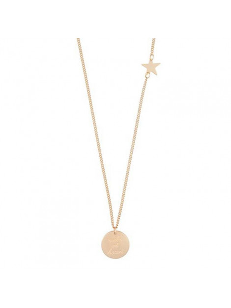 CLUB MANHATTAN Necklace wild at heart gold goud CM/DL/go wild at heart necklace large