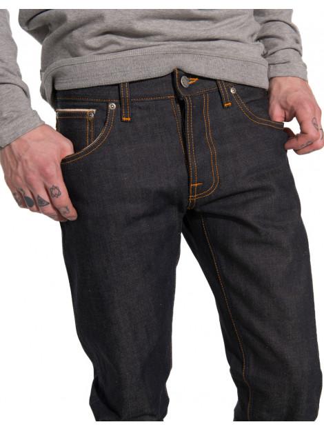 Nudie Jeans Grim tim dry selvedge jeans blauw 111205 large