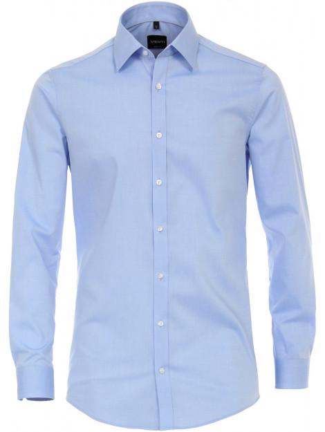 Venti Heren overhemd effen licht kent poplin body fit blauw VT.001420.115-38 large