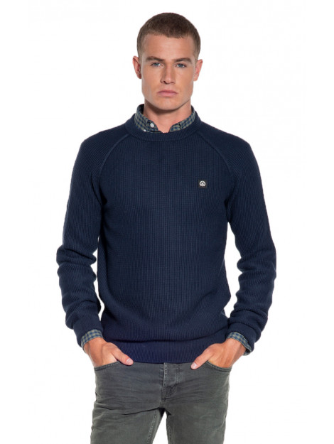 Victim Trui o-hals blauw Keith large