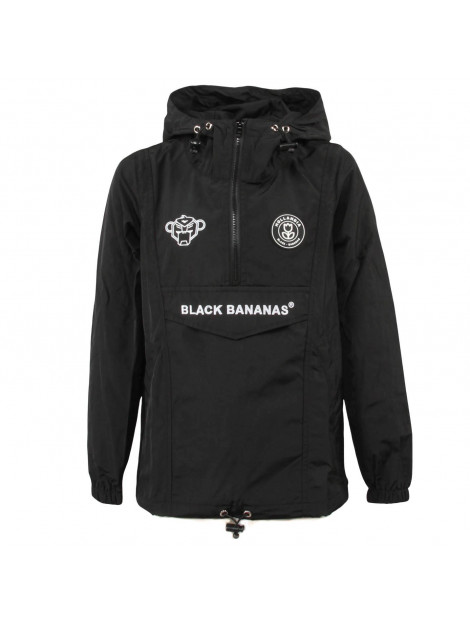 Black Bananas F.C. Anorak Windbreaker zwart | JHP Fashion