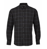 Kronstadt Overhemd check shirt anthracite grijs
