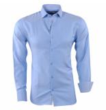 New Republic Pradz heren overhemd gestreepte kraag slim fit -