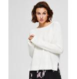 Selected Femme 16071297 slfalbi ls knit wide o-neck b wit