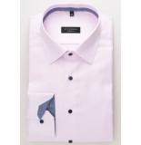 Eterna Heren overhemd ruit details twill classic kent comfort fit roze
