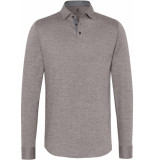 Desoto Heren poloshirt button-down beige