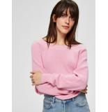 Selected Femme 16072343 slfmai ls knit o-neck b roze