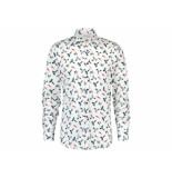 A Fish Named Fred 20.01.005 shirt colourful birds white fisch fred wit