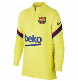 Nike Fc barcelona drill top 2019-2020 kids sonic yellow