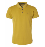 No Excess Polo, s/sl, pique stretch, stone wa lime geel