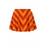 Looxs Revolution Diagonaal gestreept rokje voor meisjes in de kleur